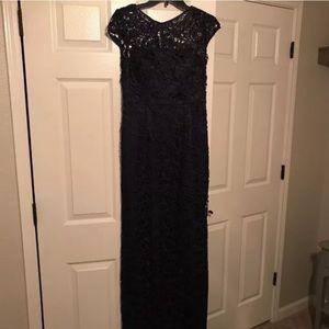 Adrianna Papell lace blue dress elegant size 4